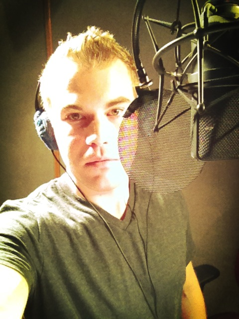 Jesse Springer Performing a Voiceover in the AudioVision Tustin Studio